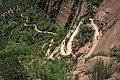 Zion Nat'l Park - the spectacular Angel's Landing trail is certainly not for the faint of heart.!! - many, many switchbacks - (19488606124).jpg