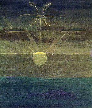 Pisces (astrology) - Žuvys (Pisces) by Mikalojus Konstantinas Čiurlionis.
