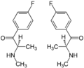(±)-Flephedrone 4-isomer Enantiomers Structural Formulae.png