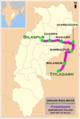 (Bilaspur - Titlagarh) Passenger Route map.png