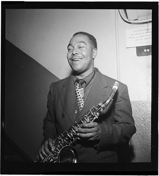 Gottlieb, William P., 1917-, photographer. [Portrait of Charlie Parker, Carnegie Hall, New York, N.Y., ca. 1947]