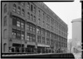 , February, 1971 WEST FRONT FROM NW - Hiram Sibley Warehouse, 315-331 North Clark Street, Chicago, Cook County, IL HABS ILL,16-CHIG,49-4.tif