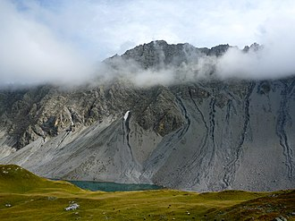Älpliseehorn - The Älpliseehorn with the Älplisee (north side)