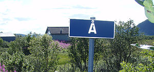 Å, Andøy - View of the sign at the entrance to the village
