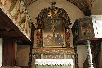 Åre Old Church - Image: Åre Church Altar