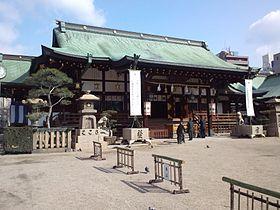 Ôsaka-ten'man-gû Shintô Shrine - Haiden Sanctuary.jpg