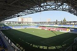 """İlham Əliyev Bakıda """"8 KM"""" stadionunun açılışında iştirak etmişdir (1).jpg"""