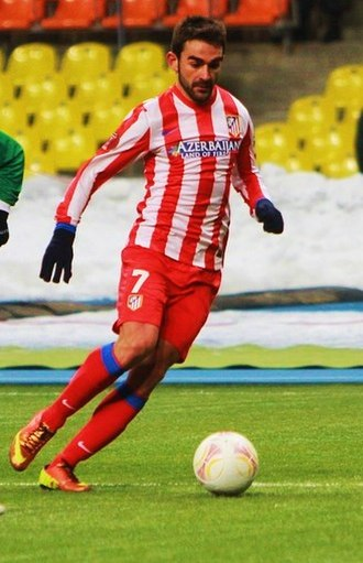 Adrián López - Adrián playing for Atlético in 2013