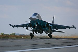 Russisk Su-34 i Syrien.
