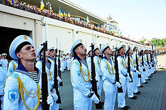 Navy Day - Ukrainian Naval Honour Guards during Navy Day in Odessa in 2016.
