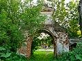Комсомольский р-н, Писцово, ограда и ворота Воскресенской церкви.jpg