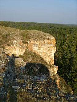 Turuk Khaya rocks, a protected area of Russia in Khangalassky District