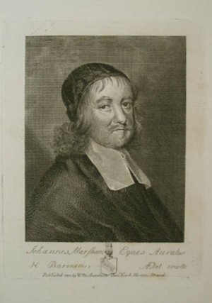 Sir John Marsham, 1st Baronet - Copper engraving of Marsham, Johannes Marsham Eques Auratus
