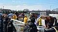帯広競馬場で引退式に臨むインフィニティー、ホリセンショウ、コトブキライアンの3頭(2016年3月21日).JPG