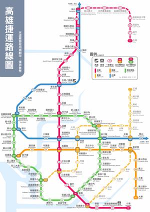 高雄捷運近期路網圖