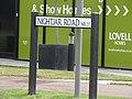 -2019-08-19 Street name sign, Nightjar Road, Holt.JPG