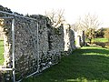 -2020-12-01 Looking west along the north curtain wall, Baconsthorpe Castle.JPG