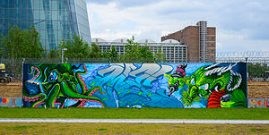 03-05-2014 - Graffiti near European Central Bank - EZB - Frankfurt Main - Germany - 05.jpg