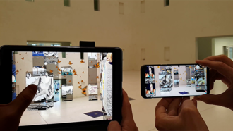 Art game - 10.000 Moving Cities, Marc Lee, Augmented Reality Multiplayer Game, Art Installation
