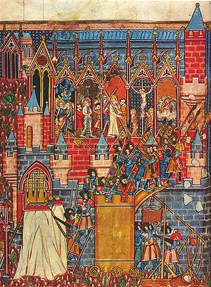 Siege of Jerusalem (1099) - 13th-century miniature depicting the siege