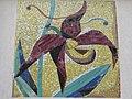 1120 Sagedergasse Rothenburgstraße Stg 2 - Mosaiksupraporte Frauenschuh von Ernst Paar 1954 IMG 7170.jpg