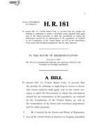 116th United States Congress H. R. 0000181 (1st session) - AMERICA Act.pdf