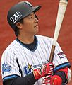 130421 Naoto Watanabe, infielder of the Yokohama DeNA BayStars, at Yokohama Stadium.JPG