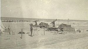 Arish - Australian Light Horse camp beside the seaside at Arish, 1915–18