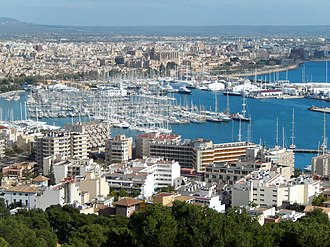 Palma, Majorca - View of Palma Majorca Bay, from Bellver Castle