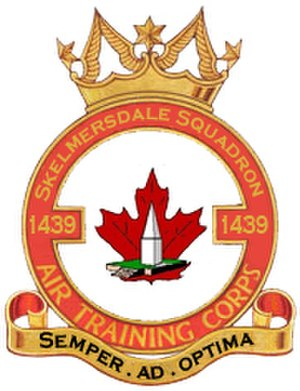 Skelmersdale - 1439 Sqn Crest showing Ashurst Beacon and Canadian Maple Leaf