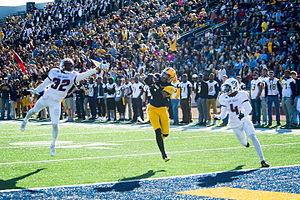 Texas A&M–Commerce Lions football - The 2014 team in action against the McMurry War Hawks
