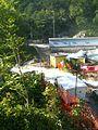18.09.2010 Most čez Hubelj pri vodarni še kljubuje vodi, vendar je od Fužinske ceste odsekan zaradi odnešenega terene ob zajetju za elektrarno. (5005785649).jpg