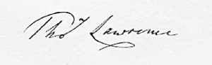 1833-11-Lawrence Signature.png