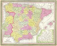 1850 Mitchell Map of Spain and Portugal - Geographicus - Spain-c-53.jpg