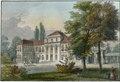 1850 circa Johann Friedrich Lange Stahlstich nach Ludwig Rohbock, Das Lustschloss Montbrillant bei Hannover, koliriert, Blattausschnitt 2.tif