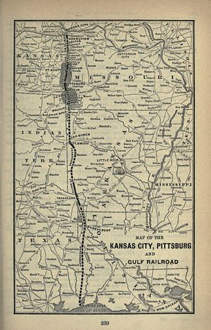 Kansas City, Pittsburg and Gulf Railroad - Image: 1893 Poor's Kansas City, Pittsburg and Gulf Railroad