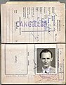 1940 British Straits Settlements colonial war-time passport issued to a BOAC pilot flying on the Horseshoe route.jpg