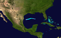 1954 Atlantic tropical storm 11 track.png