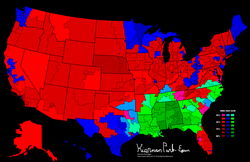 1968 presidential election results by congressional district