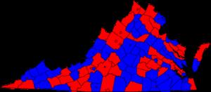 United States Senate election in Virginia, 1978 - Image: 1978 virginia senate election map