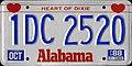 1988 Alabama passenger license plate.jpg