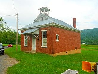 Brady Township, Huntingdon County, Pennsylvania - One room schoolhouse on Brown Road