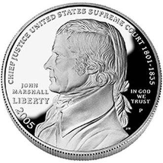 John Mercanti - Image: 2005 John Marshall Silver $1 prf obv