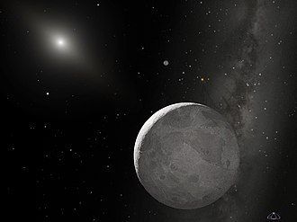 Eris (dwarf planet) - Artist's impression of Eris and its moon