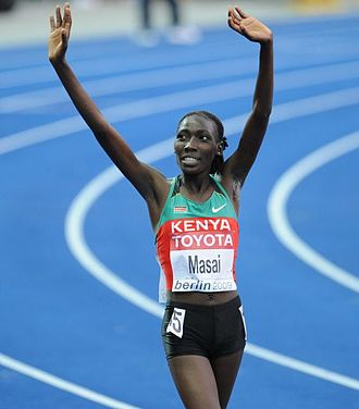 2009 IAAF World Cross Country Championships - Linet Masai took the silver medal for Kenya.