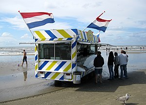 Food booth - Food booth at Zandvoort beach, the Netherlands