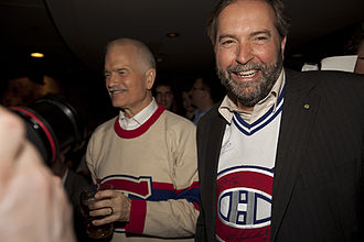 Beaconsfield, Quebec - Tom Mulcair and Jack Layton