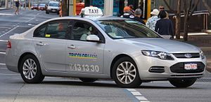 Liquefied petroleum gas - LPG Ford Falcon taxicab in Perth