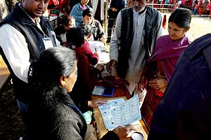 Nepalese Constituent Assembly election, 2013 - Image: 2013 CA Election of Nepal 01