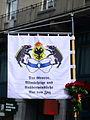 2013 Sechseläuten - Gesellschaft zu Fraumünster - Ehrenwache 'Der Grosse, Allmächtige und Unüberwindliche Rat von Zug' - Uraniastrasse 2013-04-15 14-48-54.JPG